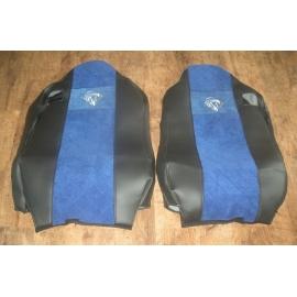 Sitzbezüge für MB MPII nach 2004, MPIII nach 2008, Schwarz, Beifahrersitz luftgefedert