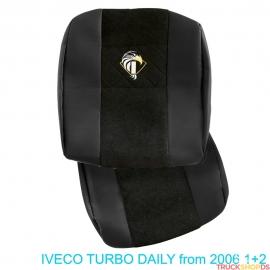 Sitzbezüge für IVECO TURBO DAILY nach 2006, Schwarz