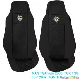Sitzbezüge für MAN  TGA, TGX, TGS, TGM, TGL  schwarz