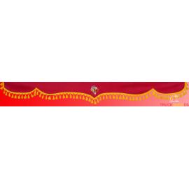 Scheibenbordüre Mikrofaser mit Fransen für  RENAULT