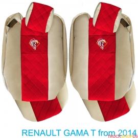 Sitzbezuge für RENAULT T-GAMA nach 2014 beige
