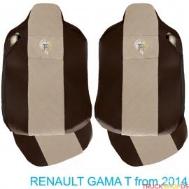 Sitzbezüge für RENAULT T-GAMA nach 2014 braun
