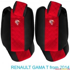 Sitzbezuge für RENAULT T-GAMA nach 2014 schwarz