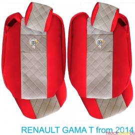 Sitzbezuge für RENAULT T-GAMA nach 2014 rot