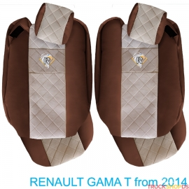 Sitzbezuge für RENAULT T-GAMA nach 2014 braun